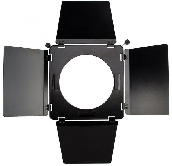 Coopic Barn Door With 6 Inch Honeycomb Grid 4 Color Gel Filters