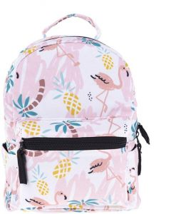 9a93e2a37 3D Printed Women Mini Backpack For Girls Kids School Bag Baby Pineapple  Flamingo Printing Kindergarten Canvas Schoolbag For Children | KSA | Souq