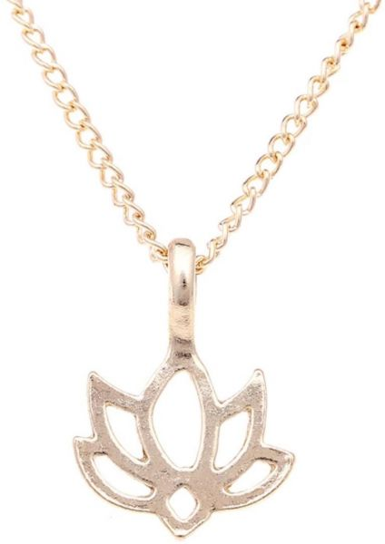 Buy Gold Color Good Karma Lotus Necklaces For Women Jewelry