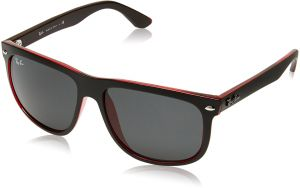 Ray-Ban RB4147 - TOP MAT BLACK ON RED TRA Frame DARK GREY Lenses 56mm Non- Polarized e7b74f9d68ee