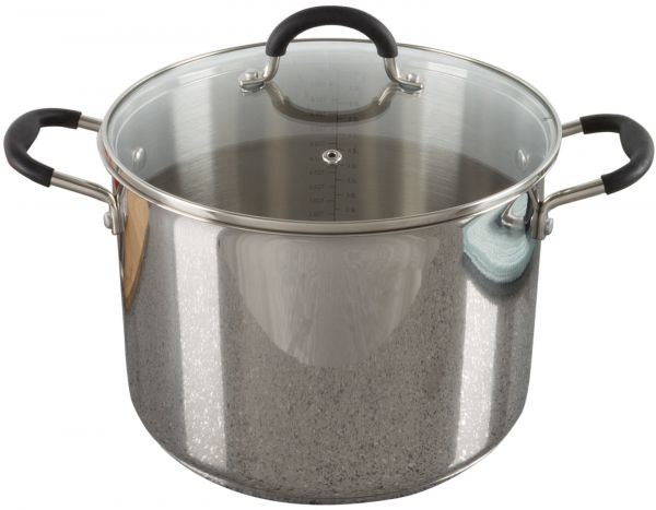 8 Quart Stock Pot Stainless Steel With Lid Compatible Electric Gas Induction Or Cooktops Cookware By Classic Cuisine
