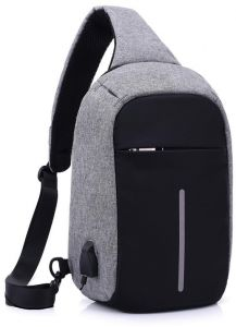 298e0845eb92 Men s Burglar USB Charging Shoulder Crossbody Bag Men Female Stealth Zipper  Business Chest Pack Repellent Anti-theft Package USB Charge Chest Bags Men