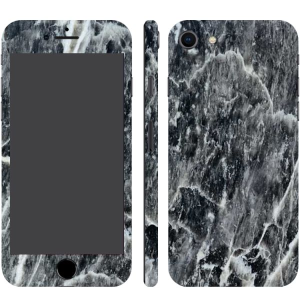 Switch iPhone 8 / 7 Carbon Black Scraped Marble (Printable) Textured Skin