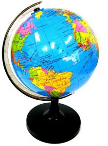 Sale on maps atlases globes palomar easy map advertising 182 cm rotating globe world map with swivel stand for children gumiabroncs Image collections