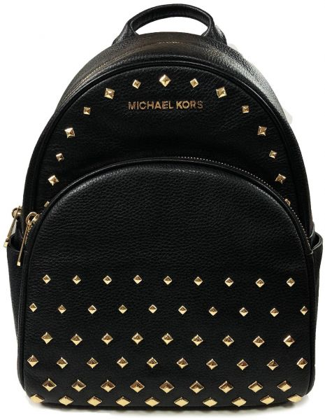 15470b5f4232 Michael Kors Abbey Medium Studded Backpack Leather Black | KSA | Souq