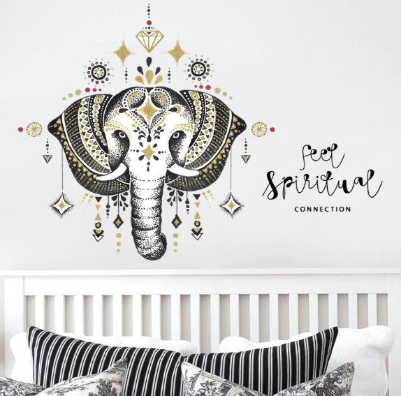 3d elephant wall stickers for kids rooms home decor living room
