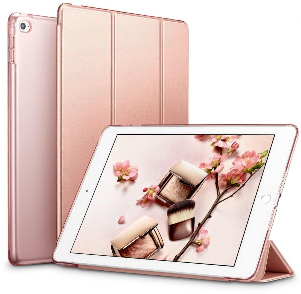 Apple iPad Mini 4 ESR Yippee Color Seires PU Leather Slim-Fit Lightweight Trifold Stand Smart Case Cover - Rose Gold