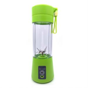 Personal USB Juicer Cup ,Portable Juicer Blender ,Household Fruit Mixer - Six Blades in 3D,Rechargeable Fruit Mixing Machine For Baby Travel 380ml(green)
