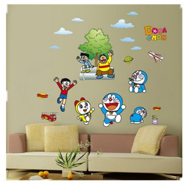 diy wall art decal decoration fashion doraemon wall stickers home