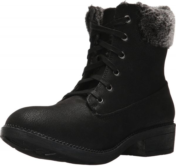 Skechers Elm-Elevation Lace Up Boots Snow Boots for Women - Black ... 7ca44f774