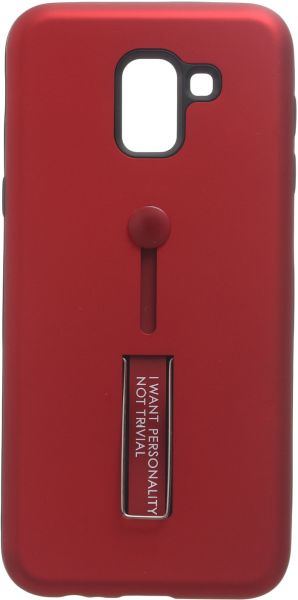 cheap for discount ed8ad 863de Boter Back Cover with Stand for Samsung Galaxy J6, Red
