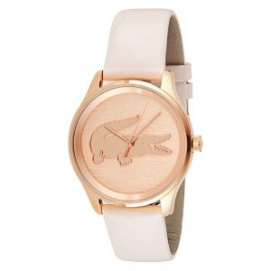 e425e15c0f6b Lacoste Victoria Women s Rose Gold Dial Leather Band Watch - 2000997