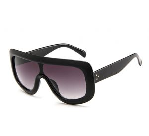 5656f14aa0 Womens Siamese Oversized Fashion Sunglasses Big Flat Square Frame UV 400  Black