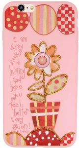 Margoun Pinky Case for Apple iPhone 6 Plus / 6S plus (5.5 inch) TPU Protective Back Cover / With Vase Design - MG06