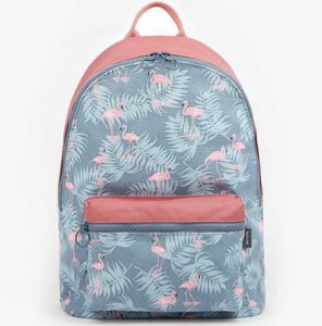 93d67ea86ce4 3D Flamingo Cartoon Printing Backpack Stitching Floral Casual Daily Travel  Bag Teenagers School Bag Women Girls All-match Canvas Travel Laptop Bags