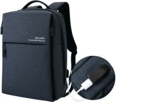 784b03ec49 Fashion waterproof backpack travelling bag laptop bag with USB interface
