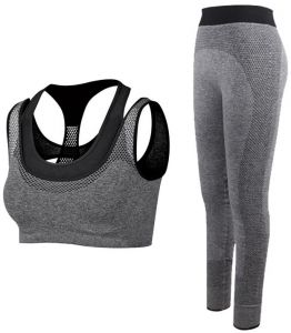 2702c01ca0f4 2Pcs Women Yoga Sets Fitness Sport Bra+Yoga Pants Leggings Set