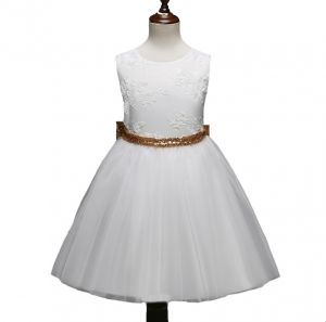 d881fa01bbf Girl s Princess Dress Solid Color Sweet Cute Bowknot Deco Sleeveless Dress
