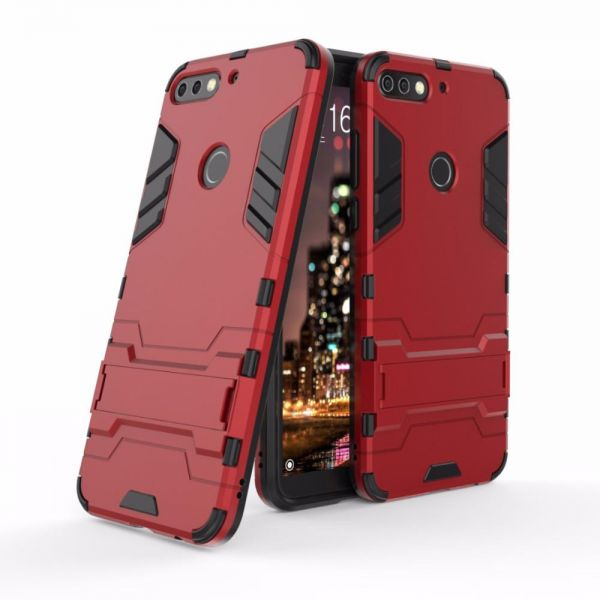 on sale a1a11 b1208 Huawei Y7 Prime 2018 Iron Man Case With Stand Back Cover - Red