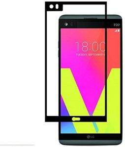 LG V20 3D Curved Full Coverage Tempered Glass Screen Protector For LG V20 With Black Frame By Muzz