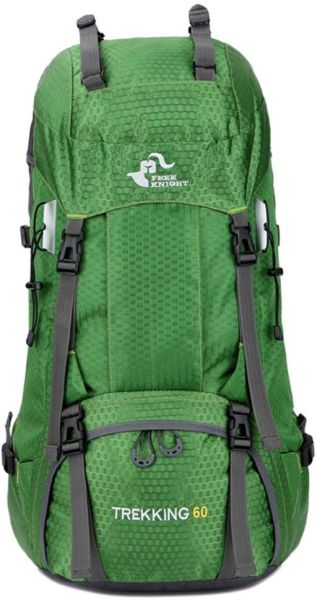 1b5575d329 Free Knight 60L Hiking Backpack Large Capacity Internal Frame Water  Resistant for Outdoor with Rain Cover Green. by Fight knight