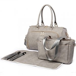 1a556b6f03cd6 Miss Lulu Pu Leather 3 Piece Baby Nappy Diaper Changing Bag Set Large  Shoulder Handbag Tote