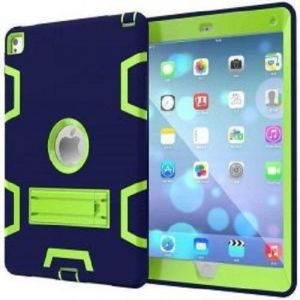 Anti Finger Print Mixed Protective Shell/Skin Shockproof Heavy Duty Hard Case Cover with Kick-stand For Apple iPad Mini 4 7.9 Inch Blue and Green (Awdsales)