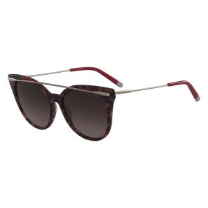 9488a048d4b Calvin Klein Cat Eye Sunglasses for Women - Red and Brown Lens