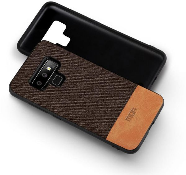 separation shoes 8afec 45db3 MOFI Samsung Galaxy Note 9 Case, Fabric and Leather ,Brown