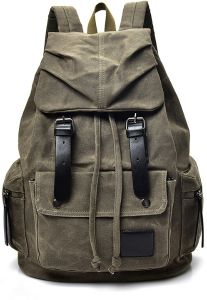 Large-capacity backpack female leisure travel bag men s backpack outdoor  travel sports canvas men s bag-XSQ 2a59ac6972980