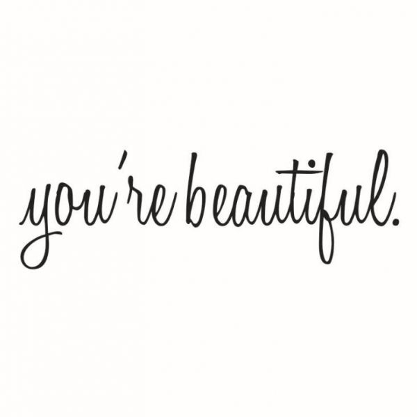 You Are Beautiful Quote Mirror Decal Quotes Vinyl Wall Decals Walls