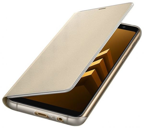new concept 5968a 67368 Samsung Galaxy A8+ Neon Flip Cover, Gold