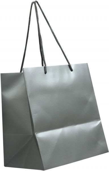 plain square silver paper bags with handles for gifts parties
