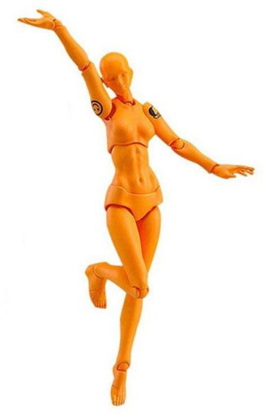 Figma Archetype Next She Female Action Figure Model Body Chan And Kun Moveable Drawing Sketch Figures