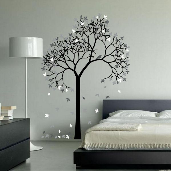 spoil your wall brand, tree design wall decals for living room, homeBedroom Wall Tree Design #5