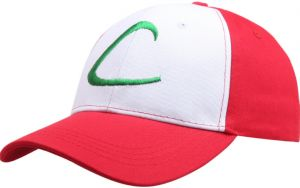 Red   White Anime Pokemon Hat Ash Ketchum Hat For Unisex a2910d8e07b5
