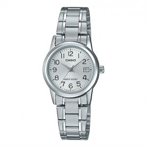e38b306e4bfa Casio Women s Silver Dial Stainless Steel Band Watch - LTP-V002D-7BUDF