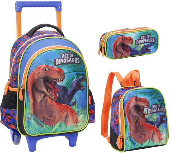 48ce3f2be1 3D dinosaur School Bag for 3 - 12 Ages Kids Children Boys Backpack Trolley  Bags