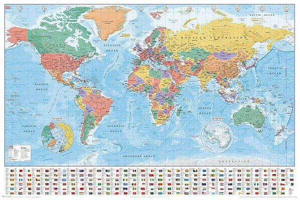 World Map Poster Souq Uae
