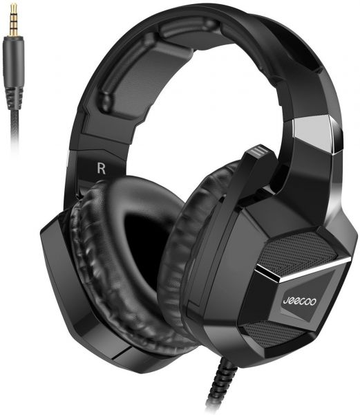 J20 Gaming Headset for PS4 Xbox One,Stereo Over-ear Headphones with Mic for  PC Laptop Switch PUBG Fortnite Games-Black