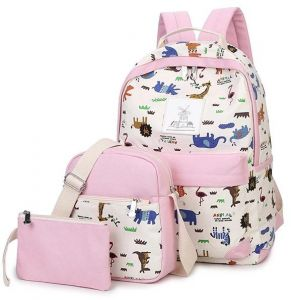 fce66a8862 painting set 3 pieces canvas backpack for kids and girls study school bags