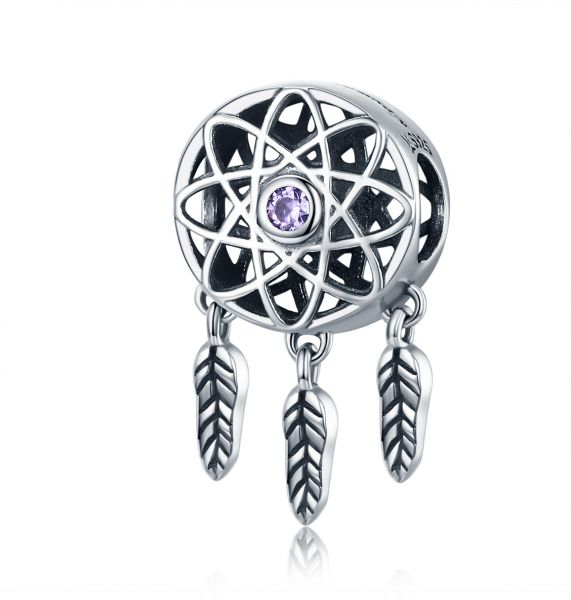Qings Dreamcatcher 925 Sterling Silver Pendant Beads For