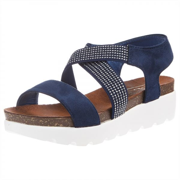 8fa43d79b Carlton London Navy Flat Sandal For WOMEN