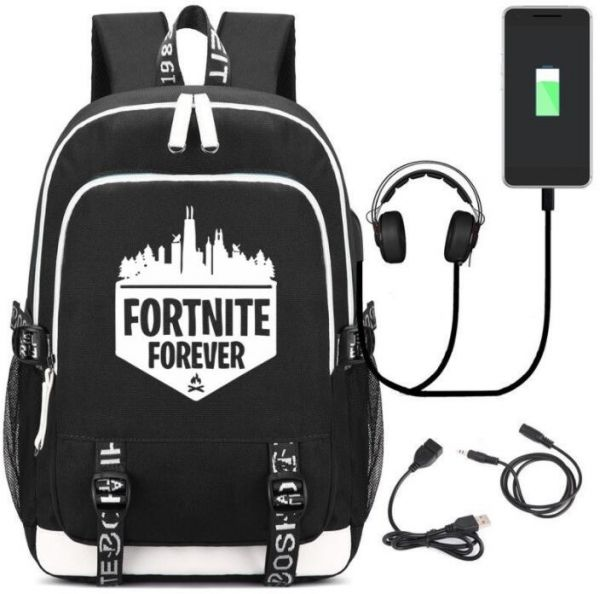 d2f565f0bea8 Fortnite series Multifunctional Tear Resistant Laptop Travel canvas Backpack  with USB Charging port