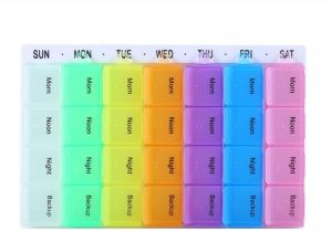 7 Days Weekly 28 Cells Large Capacity Tablet Pill Medicine Box Holder Storage Organizer Container Case Pill Box