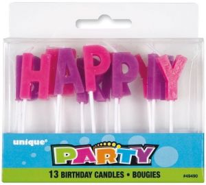 Unique Birthday Party Candles 13 Pcs By