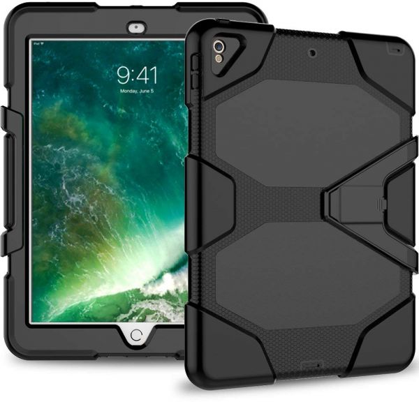 the latest ddb62 d3db0 Azzsy iPad Pro 10.5 Case,[Kickstand]Slim Heavy Duty Shockproof Rugged Cover  Hybrid High Impact Resistant Defender Full Body Protective Case,Black