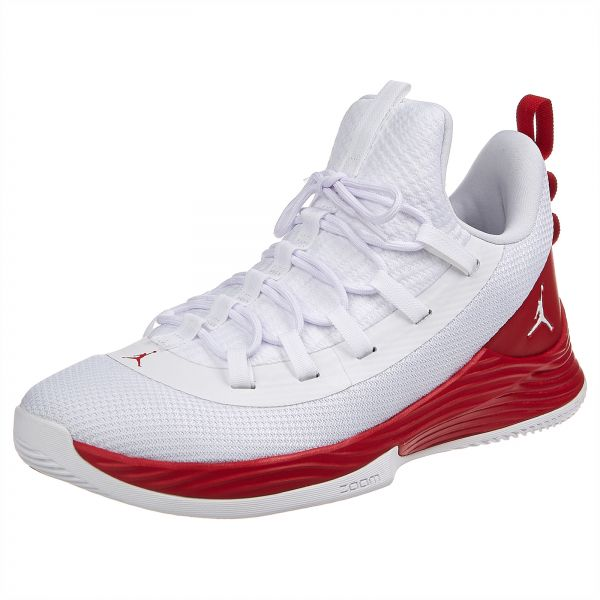 san francisco f6326 543d0 Nike Jordan Ultra Fly 2 Low Basketball Shoes for Men - White & Red