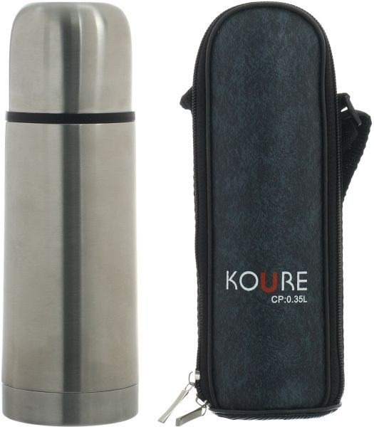 Stainless Steel Thermos Flask 350ml, Silver