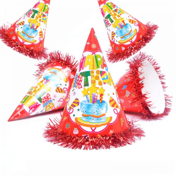 5 PCS Party Hats Lovely Paper Cone Birthday For Children
